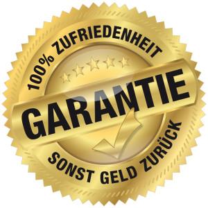 Zufriedenheitsgarantie – 100% Zufriedenheit oder Geld zurück