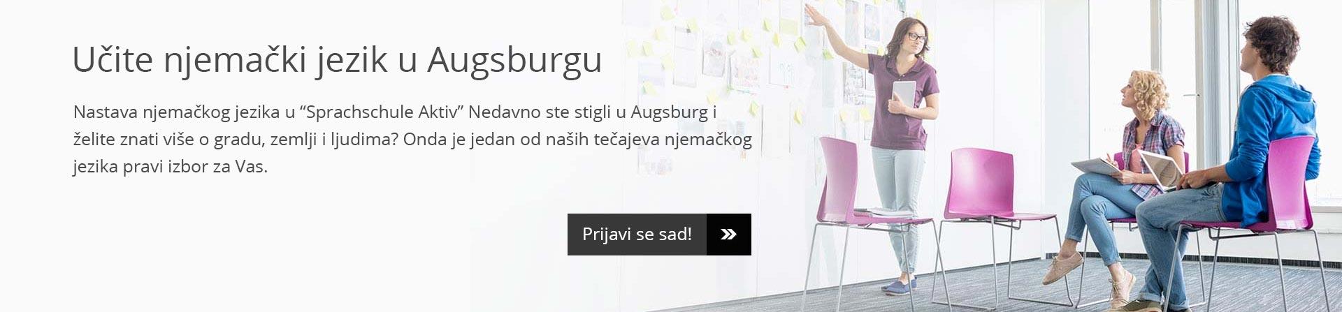 """Učite njemački jezik u Augsburgu – nastava njemačkog jezika u """"Sprachschule Aktiv"""""""