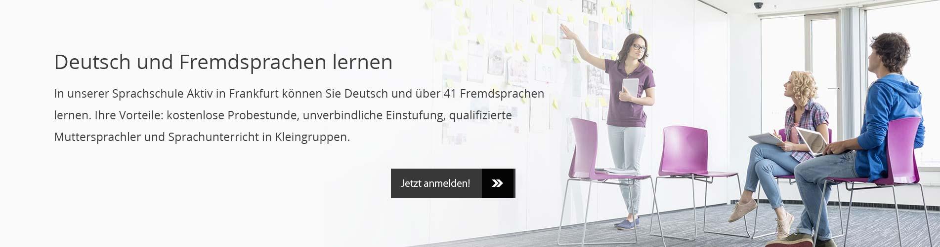 Sprachschule Frankfurt – Deutsch und Fremdsprachen lernen – Sprachschule Aktiv