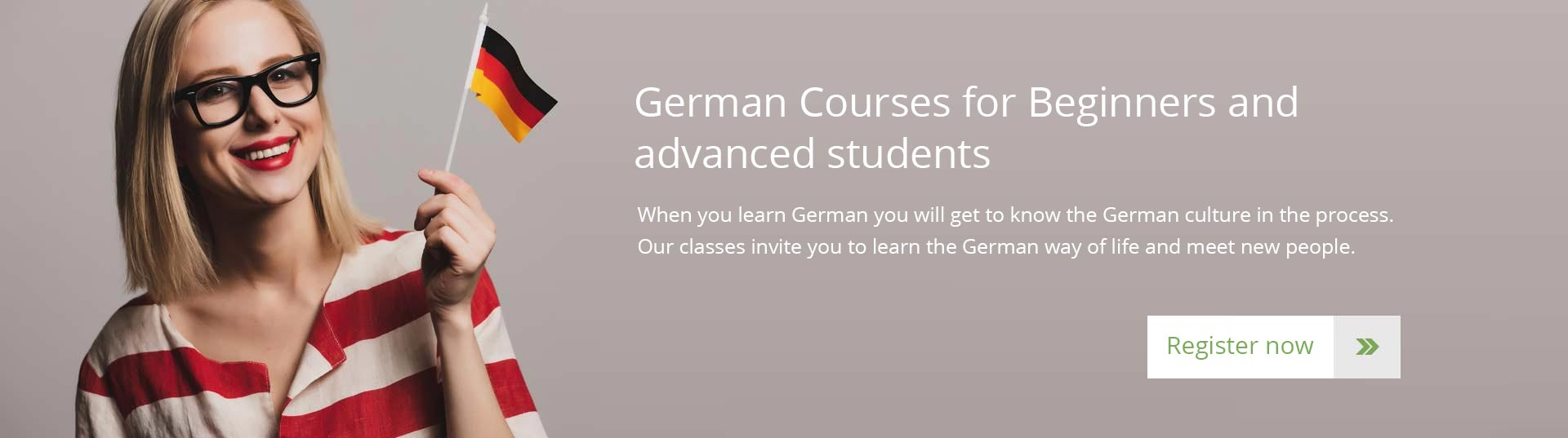 German Courses for Beginners and advanced students