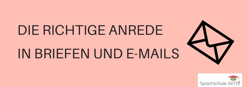 Die richtige Anrede in Briefen und E-Mails