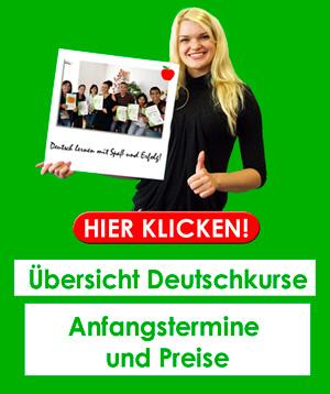 Preise und Kosten für Deutschkurse in Deutschland