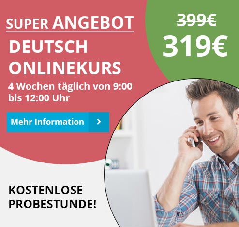 Angebot Deutschkurs Online