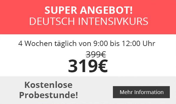 Super Angebot - Deutsch Intensivkurse